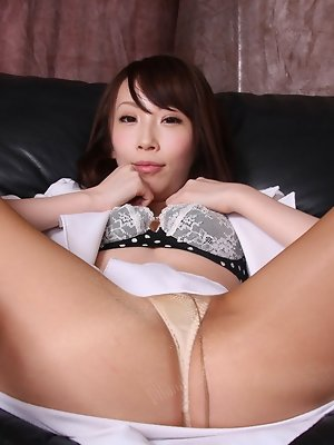 Aya Kisaki Asian loves showing sexy legs in different positions
